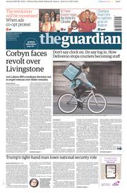 The Guardian (UK) Newspaper Front Page for 6 April 2017