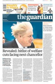 The Guardian (UK) Newspaper Front Page for 6 May 2015