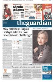 The Guardian (UK) Newspaper Front Page for 6 May 2017