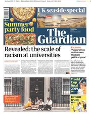 The Guardian (UK) Newspaper Front Page for 6 July 2019