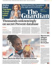 The Guardian () Newspaper Front Page for 7 October 2019