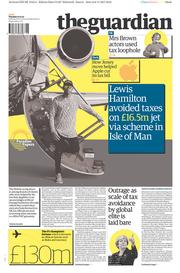 The Guardian (UK) Newspaper Front Page for 7 November 2017