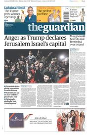 The Guardian (UK) Newspaper Front Page for 7 December 2017