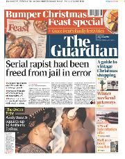 The Guardian (UK) Newspaper Front Page for 7 December 2019
