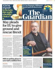 The Guardian () Newspaper Front Page for 7 January 2019