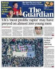The Guardian (UK) Newspaper Front Page for 7 January 2020