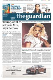 The Guardian (UK) Newspaper Front Page for 7 February 2017