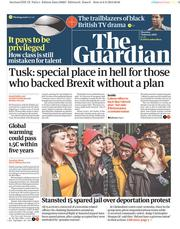 The Guardian (UK) Newspaper Front Page for 7 February 2019
