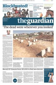 The Guardian (UK) Newspaper Front Page for 7 April 2017