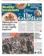 The Guardian (UK) Newspaper Front Page for 7 April 2018