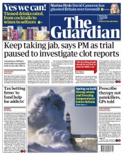 The Guardian () Newspaper Front Page for 7 April 2021