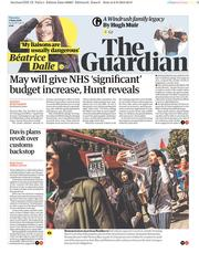 The Guardian (UK) Newspaper Front Page for 7 June 2018