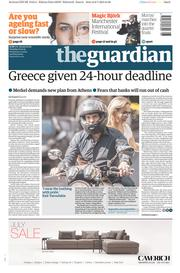The Guardian (UK) Newspaper Front Page for 7 July 2015