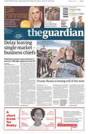 The Guardian (UK) Newspaper Front Page for 7 July 2017