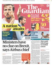 The Guardian (UK) Newspaper Front Page for 7 July 2018