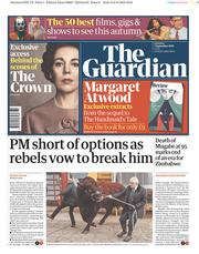 The Guardian (UK) Newspaper Front Page for 7 September 2019