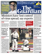 The Guardian (UK) Newspaper Front Page for 7 September 2020