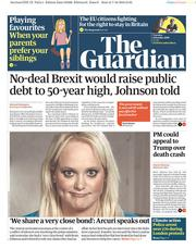 The Guardian (UK) Newspaper Front Page for 8 October 2019