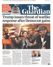 The Guardian (UK) Newspaper Front Page for 8 November 2018