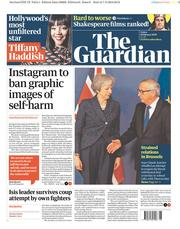 The Guardian () Newspaper Front Page for 8 February 2019