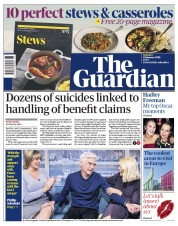 The Guardian (UK) Newspaper Front Page for 8 February 2020