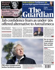 The Guardian () Newspaper Front Page for 8 April 2021