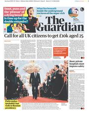 The Guardian (UK) Newspaper Front Page for 8 May 2018