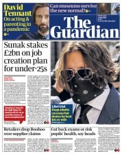 The Guardian front page for 8 July 2020