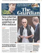 The Guardian () Newspaper Front Page for 8 August 2019