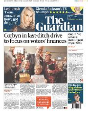 The Guardian () Newspaper Front Page for 9 December 2019