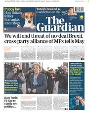 The Guardian (UK) Newspaper Front Page for 9 January 2019