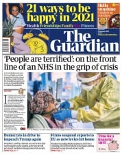 The Guardian (UK) Newspaper Front Page for 9 January 2021