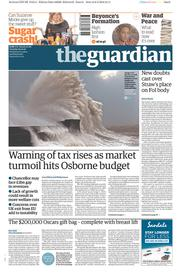 The Guardian (UK) Newspaper Front Page for 9 February 2016