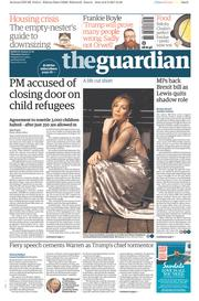 The Guardian (UK) Newspaper Front Page for 9 February 2017