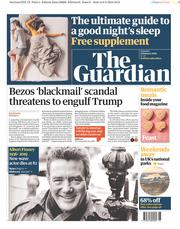 The Guardian (UK) Newspaper Front Page for 9 February 2019