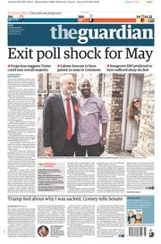 The Guardian (UK) Newspaper Front Page for 9 June 2017