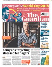 The Guardian (UK) Newspaper Front Page for 9 June 2018