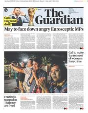 The Guardian (UK) Newspaper Front Page for 9 July 2018