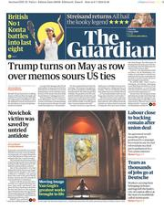 The Guardian (UK) Newspaper Front Page for 9 July 2019