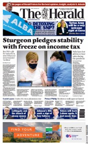 The Herald () Newspaper Front Page for 16 April 2021