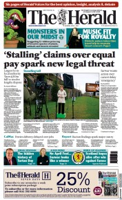 The Herald front page for 1 April 2021
