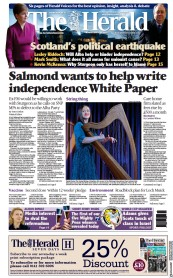 The Herald (UK) Newspaper Front Page for 29 March 2021