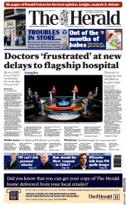 The Herald (UK) Newspaper Front Page for 31 March 2021