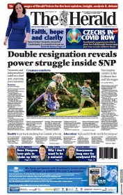 The Herald () Newspaper Front Page for 31 May 2021