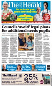 The Herald front page for 3 April 2021