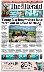 The Herald front page for 7 April 2021