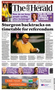 The Herald front page for 9 April 2021