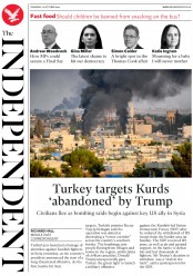 The Independent (UK) Newspaper Front Page for 10 October 2019