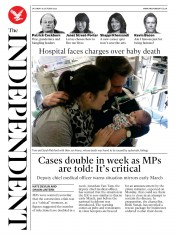 The Independent front page for 10 October 2020