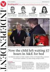 The Independent (UK) Newspaper Front Page for 10 December 2019
